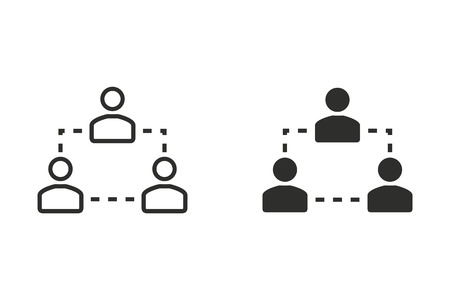 communication capability: Human interaction vector icon. Illustration isolated on white background for graphic and web design.