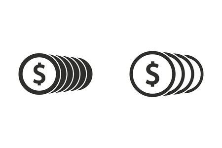 salaries: Salary vector icon. Illustration isolated on white background for graphic and web design.