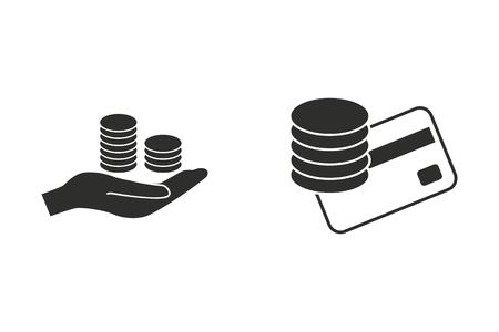 Salary vector icon. Illustration isolated on white background for graphic and web design.