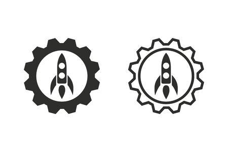 entrepreneurship: Start up vector icon. Illustration isolated on white background for graphic and web design. Illustration