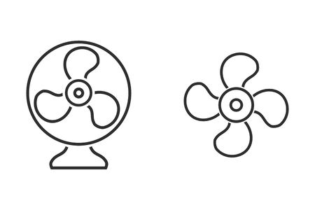aeration: Fan vector icon. Illustration isolated on white background for graphic and web design. Illustration