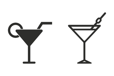 Cocktail vector icon. Illustration isolated on white background for graphic and web design.