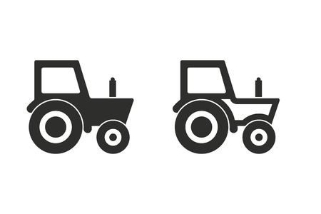 agronomy: Tractor vector icon. Illustration isolated on white background for graphic and web design. Illustration