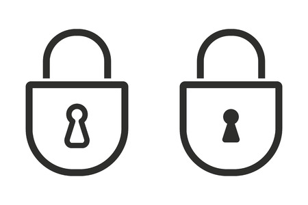 secrecy: Lock vector icon. Illustration isolated on white background for graphic and web design.