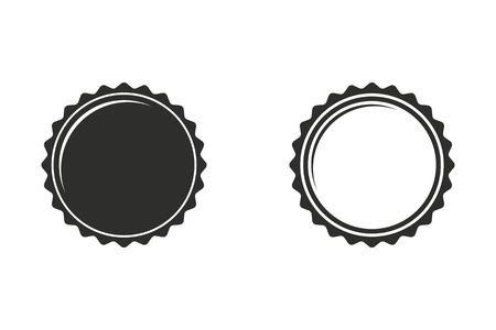 Bottle cap vector icon. Illustration isolated on white background for graphic and web design. Vettoriali