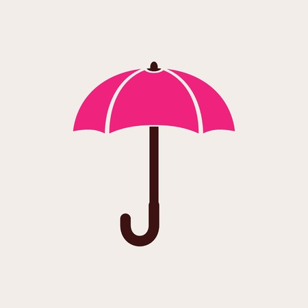 brolly: Umbrella vector icon. IIllustration isolated for graphic and web design.