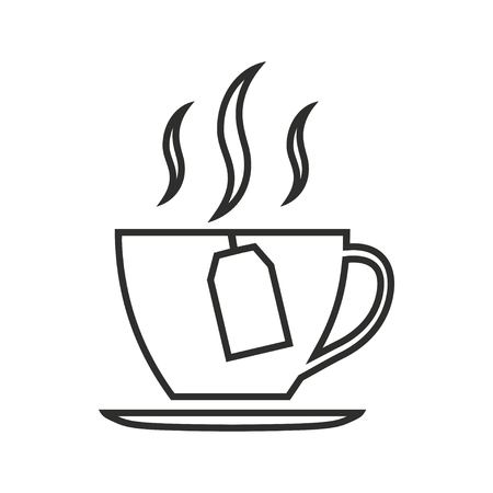 Tea vector icon. Black illustration isolated on white background for graphic and web design.