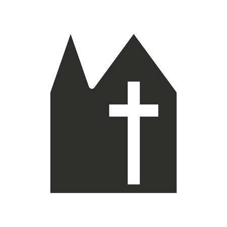 alter: Church vector icon. Black illustration isolated on white background for graphic and web design.