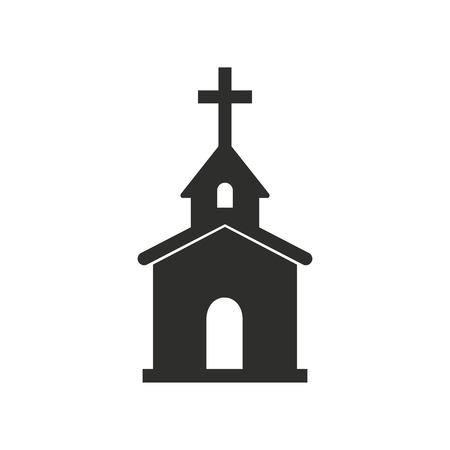 born again: Church vector icon. Black illustration isolated on white background for graphic and web design.