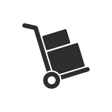 handcart: Handcart vector icon. Black illustration isolated on white background for graphic and web design.