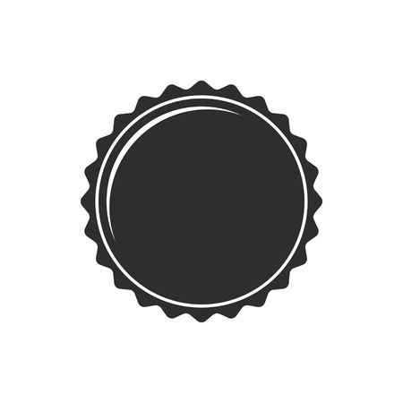 web cap: Bottle cap vector icon. Black illustration isolated on white background for graphic and web design.