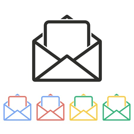 Mail vector icon. Illustration isolated on white background for graphic and web design.