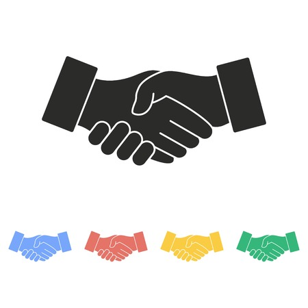 Handshake vector icon. Illustration isolated on white background for graphic and web design.