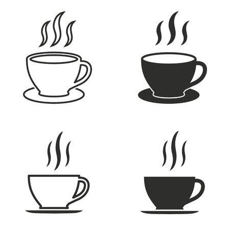 coffee cup vector: Coffee cup vector icons set. Illustration isolated on white background for graphic and web design.