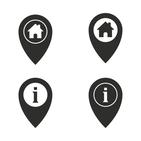 map pin: Map pin vector icons set. Illustration isolated on white background for graphic and web design.