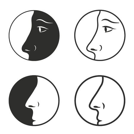 sensory perception: Nose vector icons set. Illustration isolated on white background for graphic and web design.