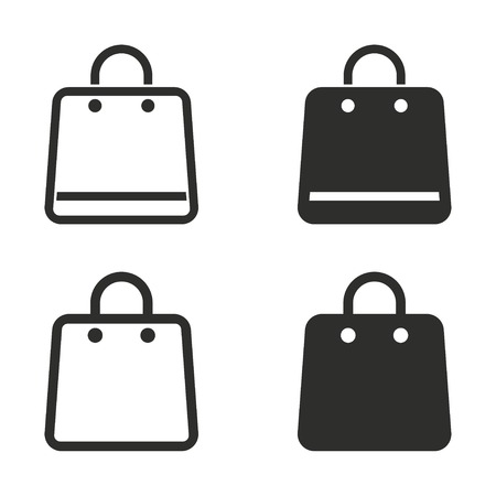 shopping bag vector: Shopping bag vector icons set. Illustration isolated on white background for graphic and web design. Illustration