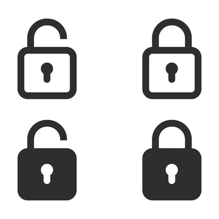 secret code: Lock vector icons set. Illustration isolated on white background for graphic and web design. Illustration