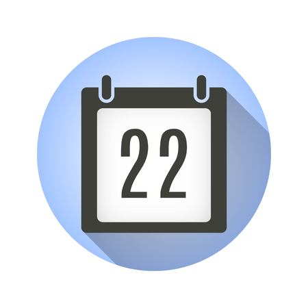 end of the days: Calendar vector icon with long shadow. Illustration isolated for graphic and web design. Illustration