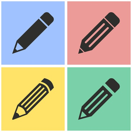Pen vector icons set. Illustration isolated for graphic and web design.