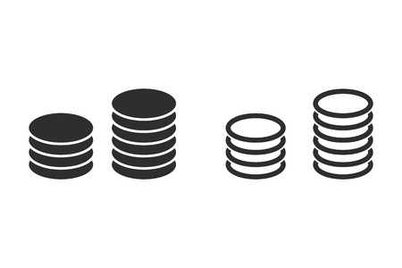 salary: Salary vector icon. Black illustration isolated on white background for graphic and web design. Illustration
