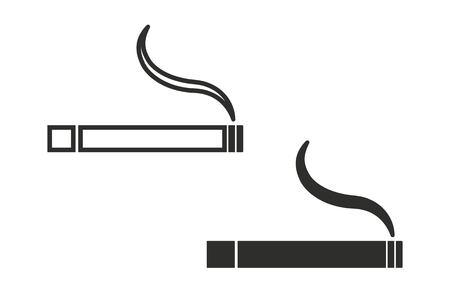 pernicious habit: Smoke vector icon. Black illustration isolated on white background for graphic and web design. Illustration
