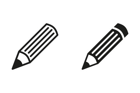 Pen vector icon. Black illustration isolated on white background for graphic and web design.