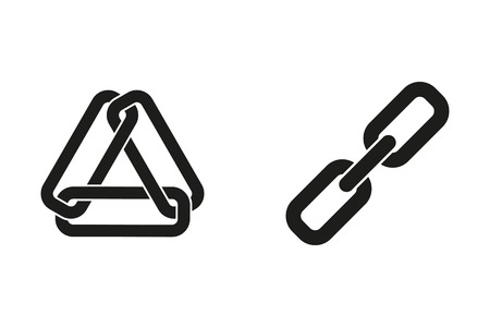 pressure linked: Link vector icon. Black illustration isolated on white background for graphic and web design.