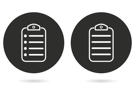 web portal: Menu vector icon. White illustration isolated on black background for graphic and web design. Illustration