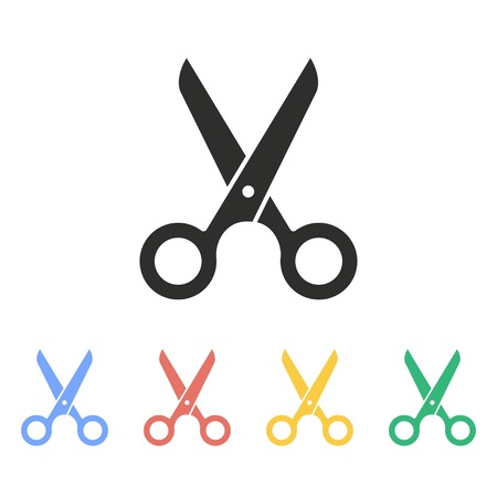 snip: Scissors vector icon. Illustration isolated on white background for graphic and web design.