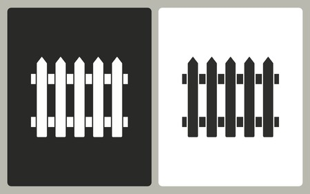 dissociation: Fence - black and white icons. Vector illustration.