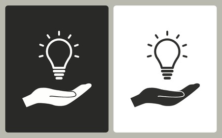 philanthropist: Donate - black and white icons. Vector illustration. Illustration