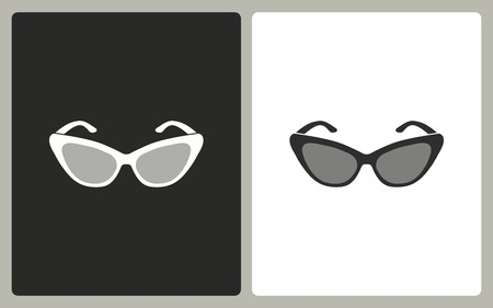 aviators: Sunglasses - black and white icons. Vector illustration. Illustration