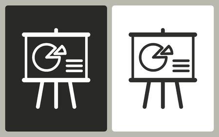 Präsentation - Schwarz-Weiß-Ikonen. Vektor-Illustration.