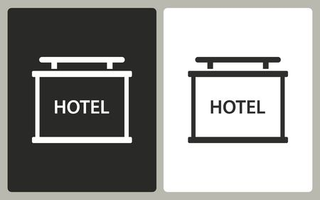 info board: Info board - black and white icons. Vector illustration.