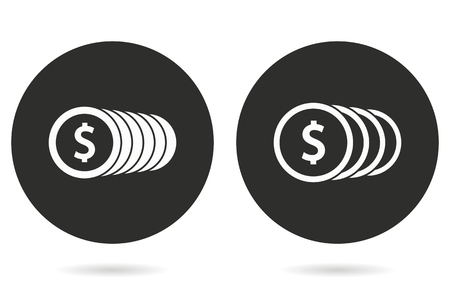 salary: Salary vector icon. White illustration isolated on black background for graphic and web design. Illustration