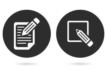 registration: Registration vector icon. White illustration isolated on black background for graphic and web design.