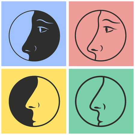 exhale: Nose vector icons set. Illustration isolated for graphic and web design.