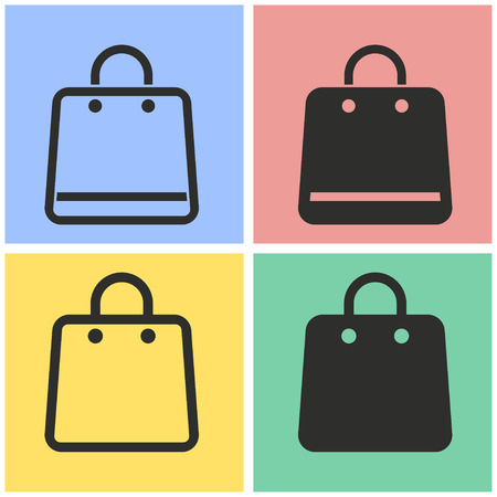 shopping bag vector: Shopping bag vector icons set. Illustration isolated for graphic and web design.