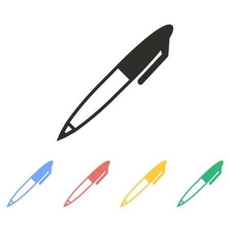 Pen vector icon. Illustration isolated on white background for graphic and web design. Illustration