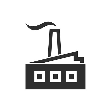 distillery: Factory vector icon. Black illustration isolated on white background for graphic and web design. Illustration