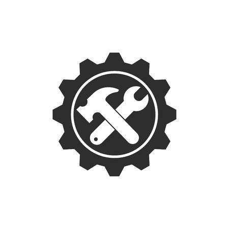 Tool vector icoon. Zwarte illustratie geïsoleerd op een witte achtergrond voor grafisch en web design.
