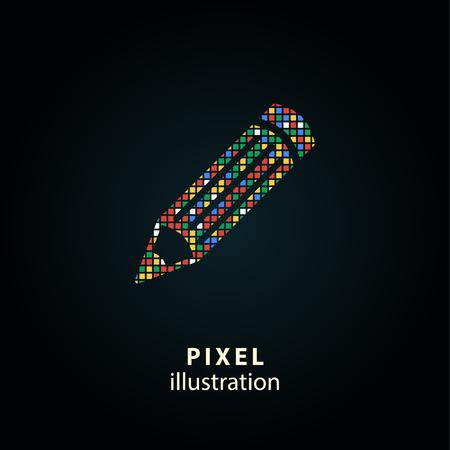 ballpoint: Pen - pixel icon. Vector Illustration.