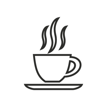 coffee cup vector: Coffee cup vector icon. Black illustration isolated on white background for graphic and web design.
