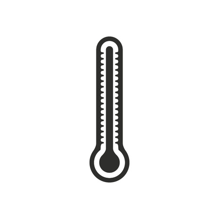 high scale: Thermometer vector icon. Black illustration isolated on white background for graphic and web design.