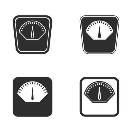 dieting: Scale vector icons set. Illustration isolated for graphic and web design. Illustration