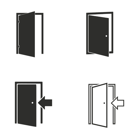#66555755 - Door vector icons set. Illustration isolated for graphic and web design.  sc 1 st  123RF.com & Door Vector Icons Set. Illustration Isolated For Graphic And ...