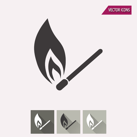 igniting: Match vector icon. Illustration isolated for graphic and web design. Illustration