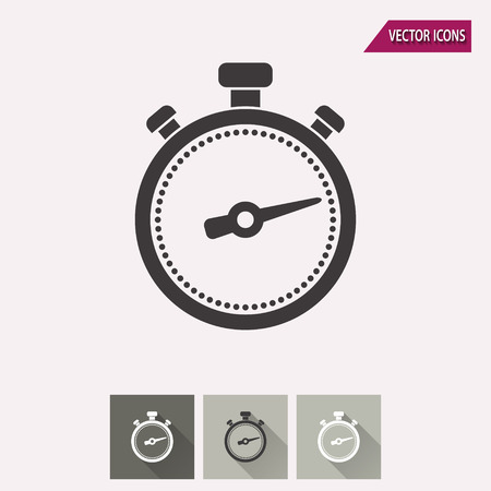 sports race: Stopwatch vector icon. Illustration isolated for graphic and web design. Illustration