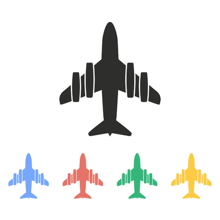 Airplane vector icon. Illustration isolated on white background for graphic and web design.